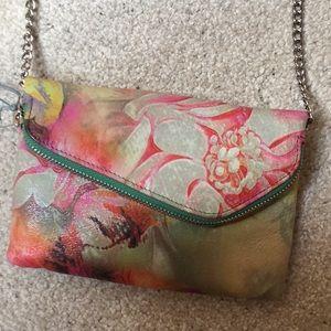 Hobo Convertible LeatherCrossbody/Wristlet Handbag